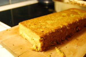 Curried chickpea terrine.